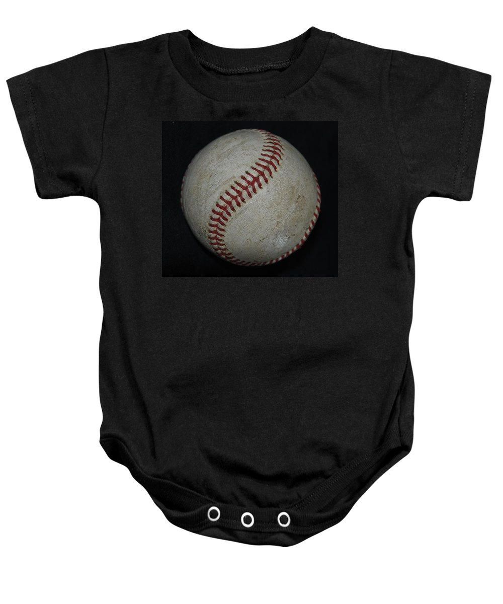 Pop Art Baby Onesie featuring the photograph Baseball by Rob Hans
