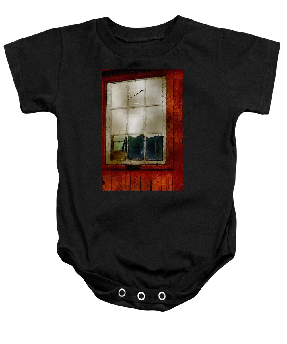 Americana Baby Onesie featuring the painting Battered Barn by RC DeWinter