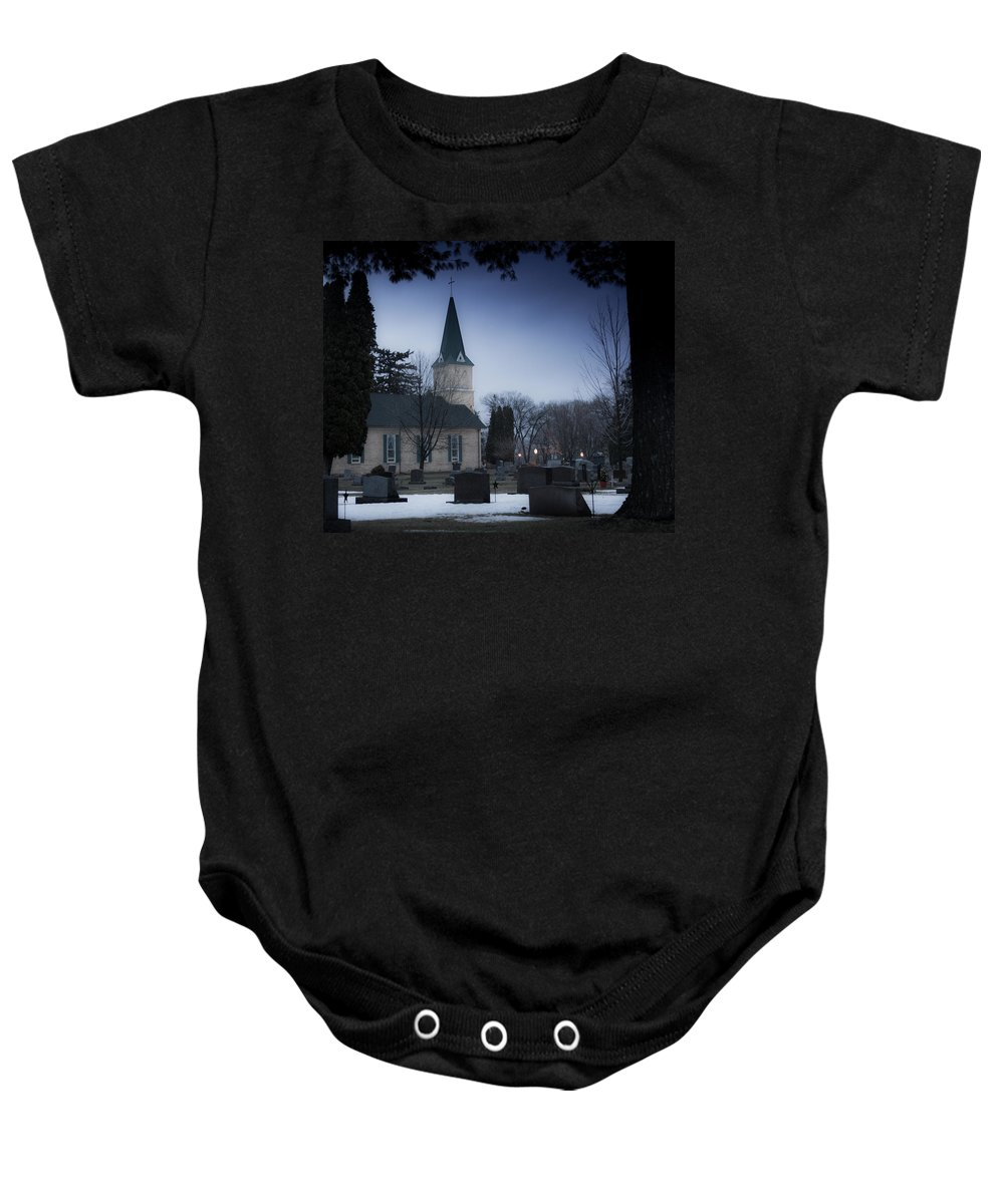 Melinda Martin Baby Onesie featuring the photograph Be Still by Melinda Martin