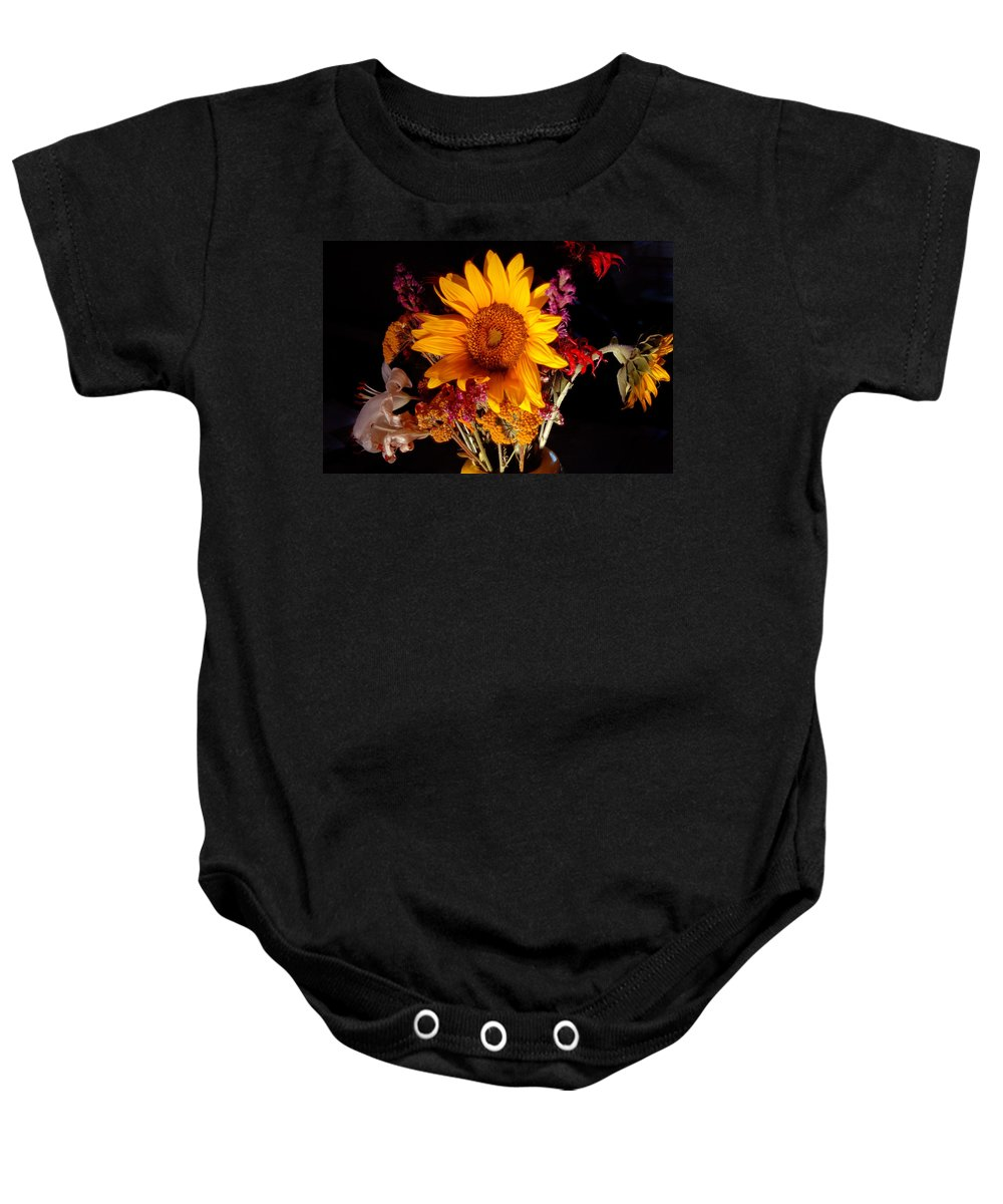 Sunflower Baby Onesie featuring the photograph Be Still by Trish Hale