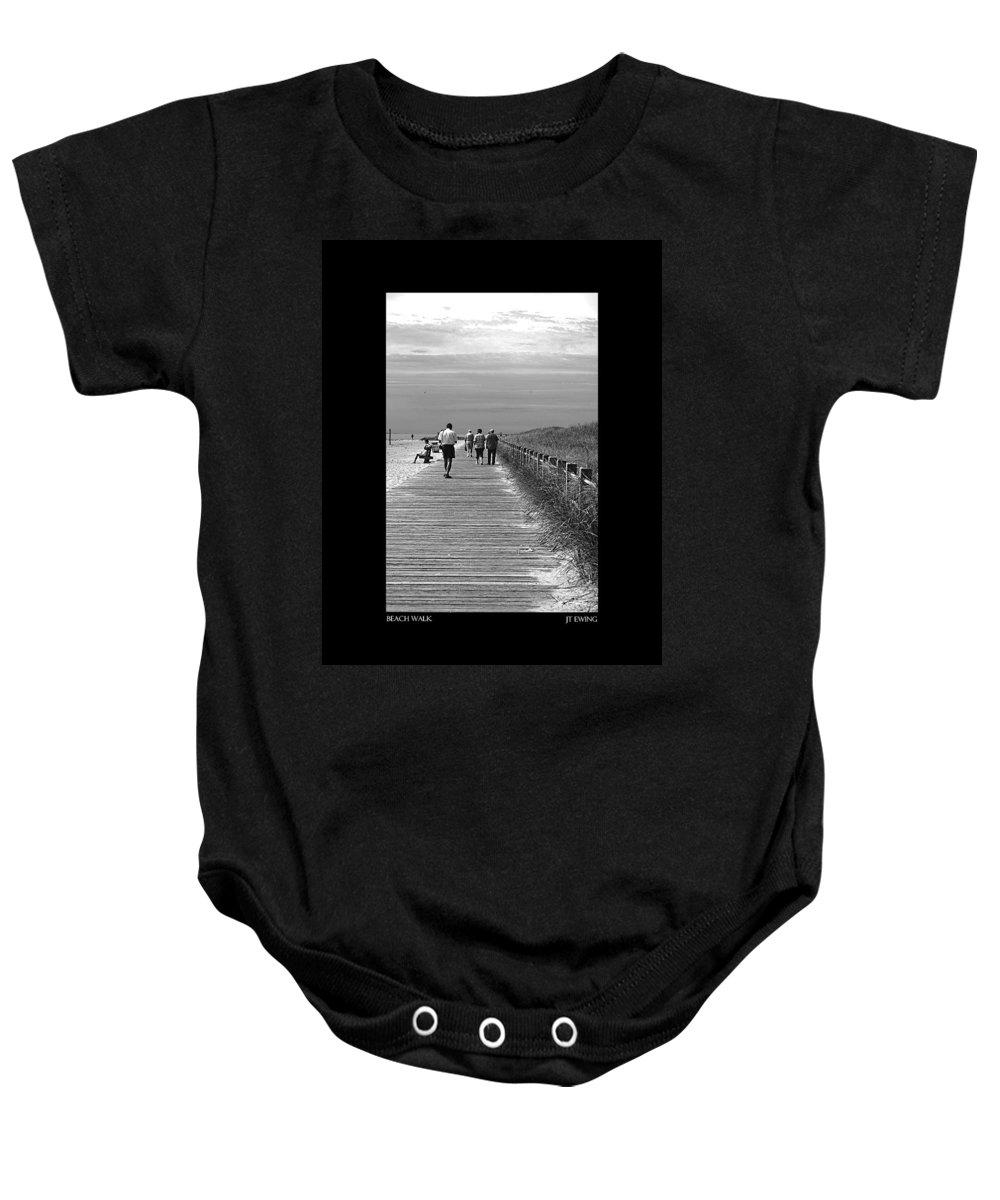 Boardwalk Baby Onesie featuring the photograph Beach Walk by J Todd