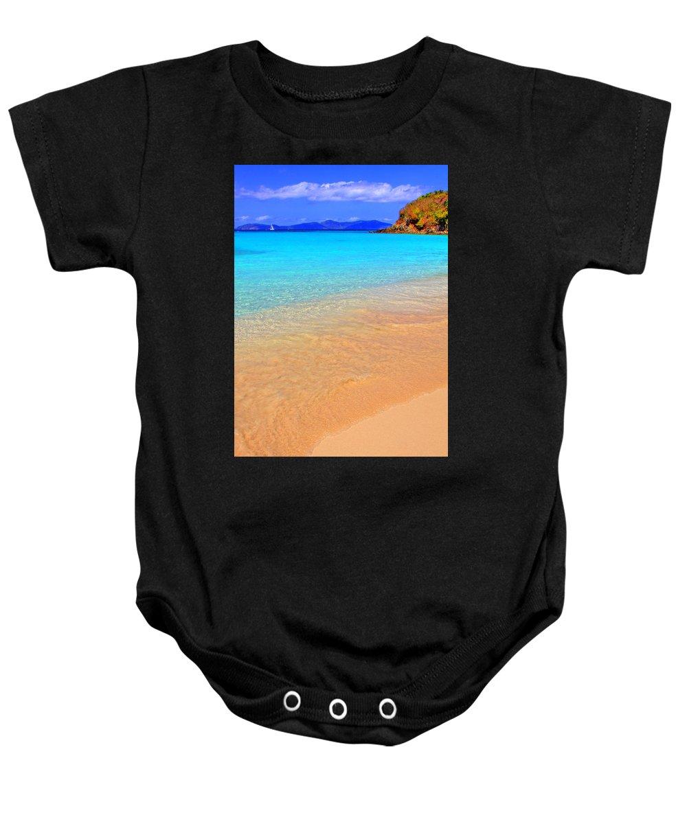Isle Baby Onesie featuring the photograph Beachside by Scott Mahon