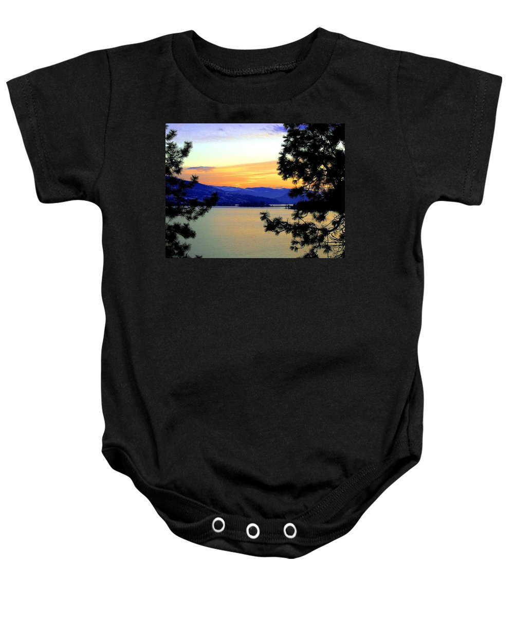 Oyama Baby Onesie featuring the photograph Beautiful Oyama Isthmus by Will Borden