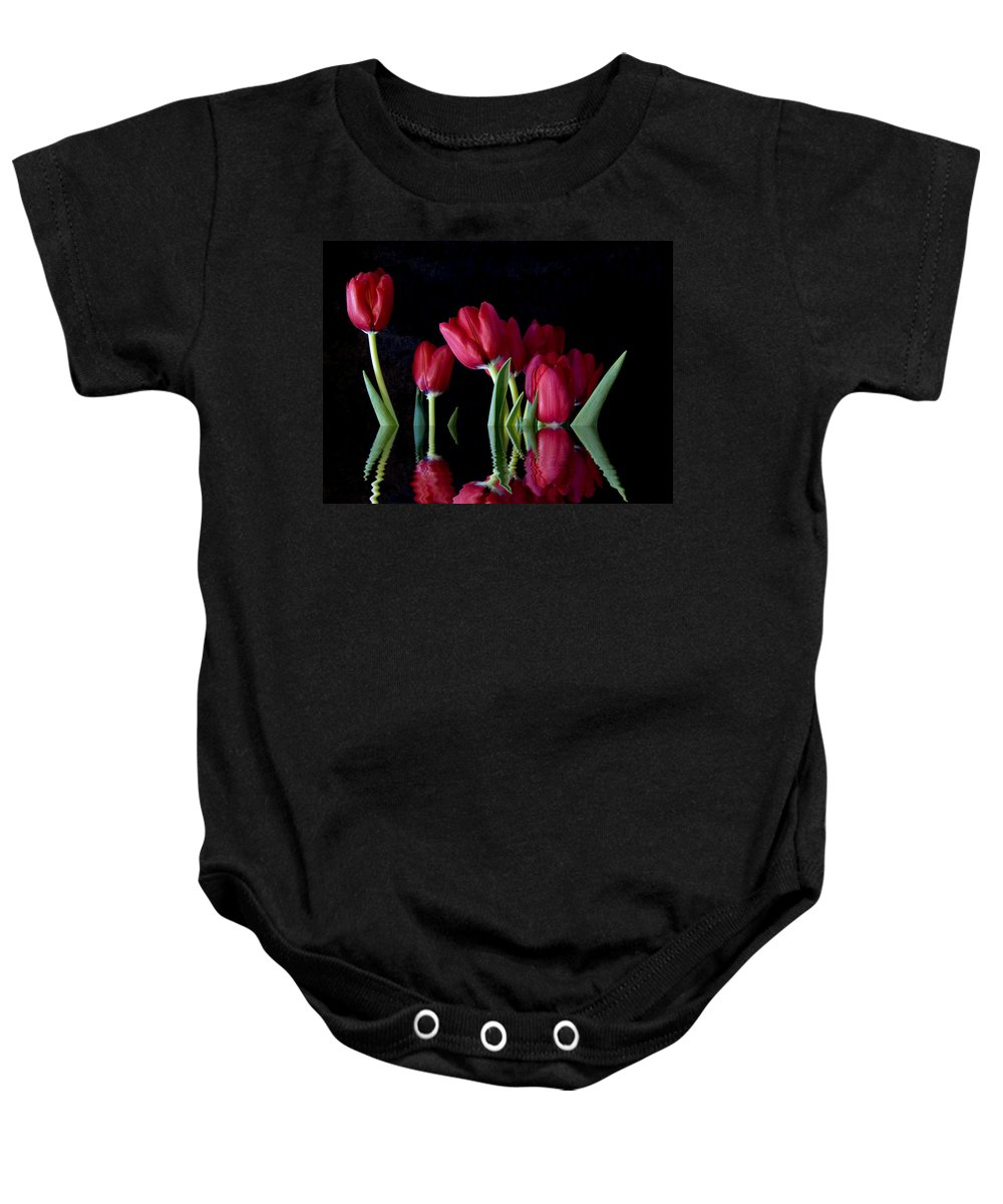 New England Photos Baby Onesie featuring the photograph Beautiful Reflection by Nancie DeMellia