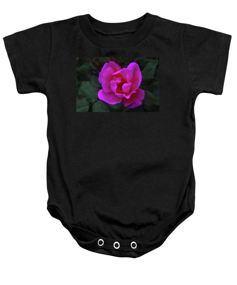 Blooms. Flowers In Bloom Baby Onesie featuring the photograph Beauty Unfurls by Jeff Swan