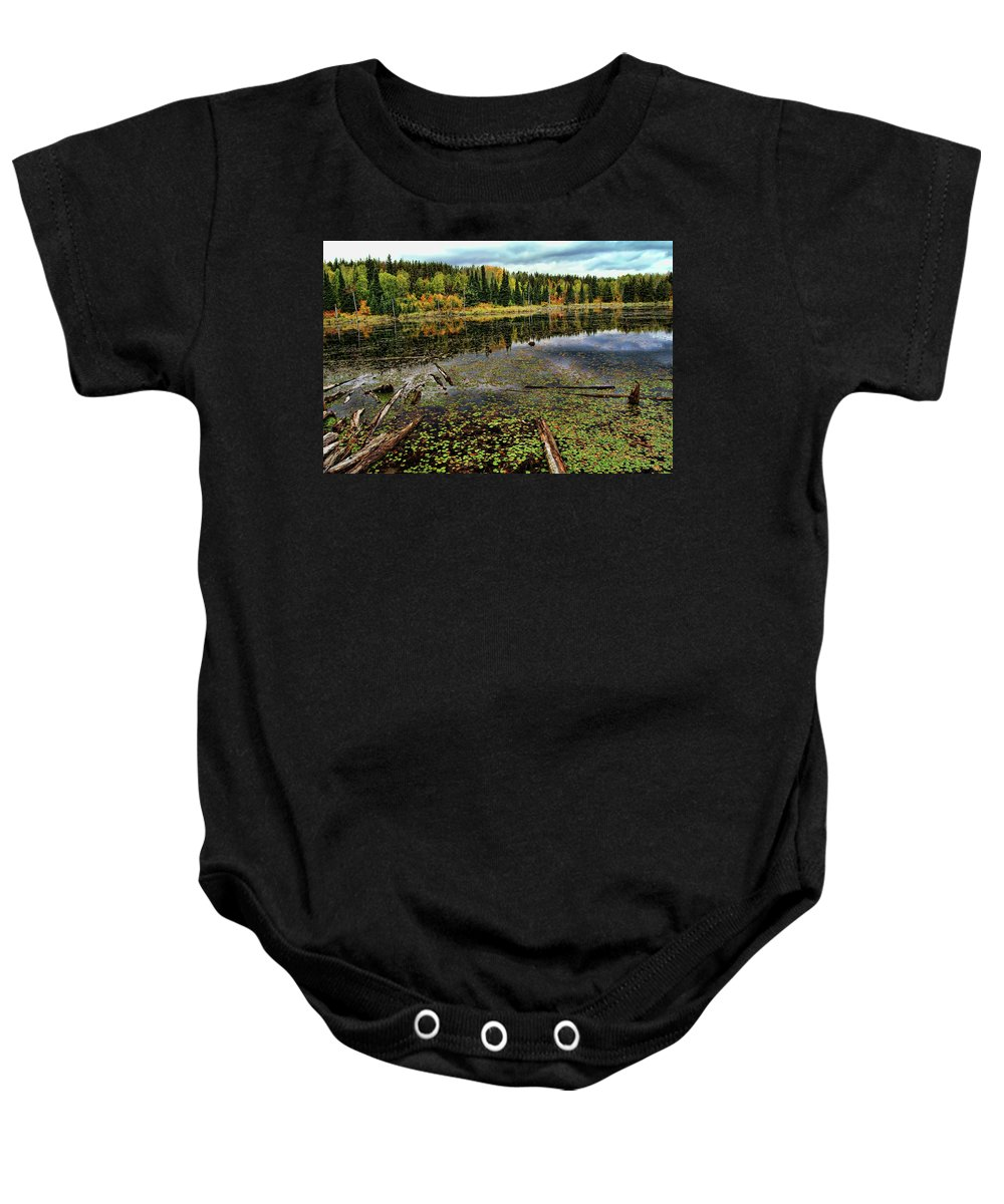 Pond Baby Onesie featuring the photograph Beaver Pond by Bill Morgenstern
