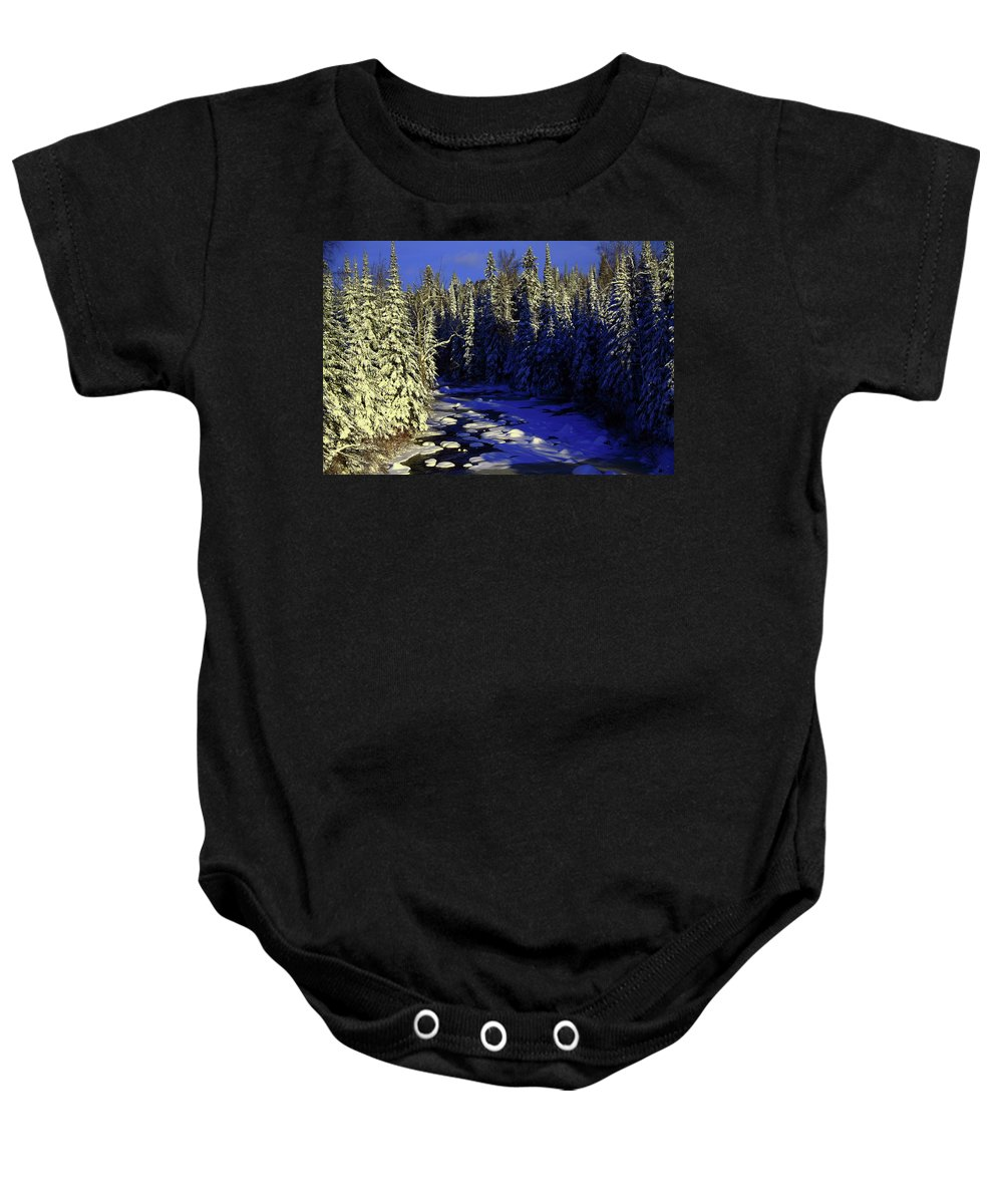 River Baby Onesie featuring the photograph Beaver River by Joi Electa