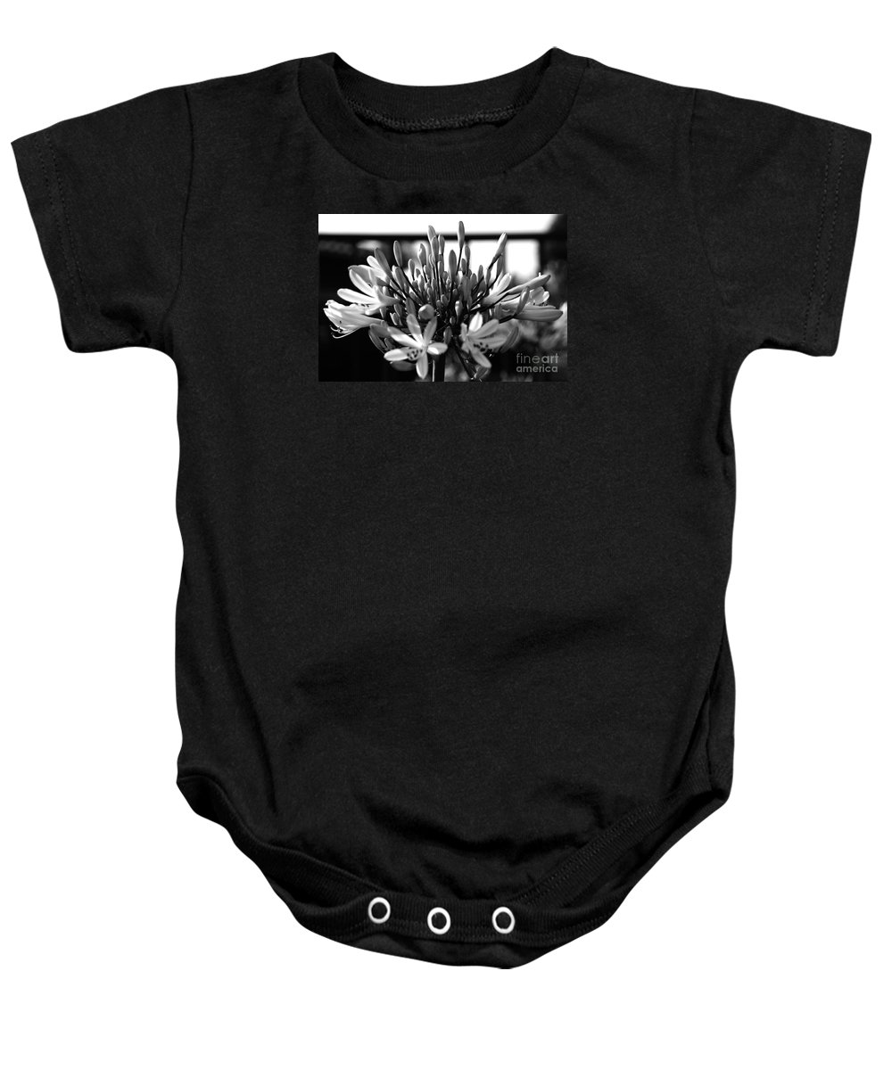 Floral Baby Onesie featuring the photograph Becoming Beautiful - Bw by Linda Shafer