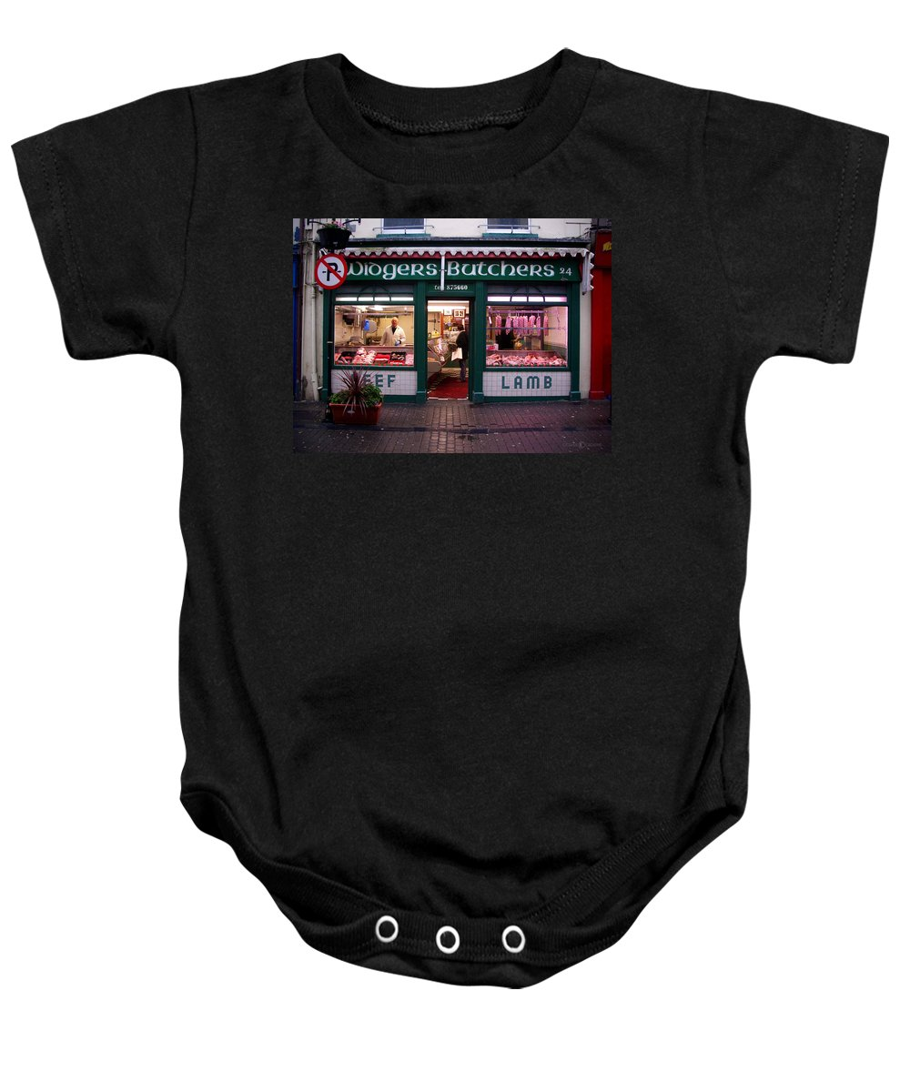Butcher Baby Onesie featuring the photograph Beef Lamb by Tim Nyberg
