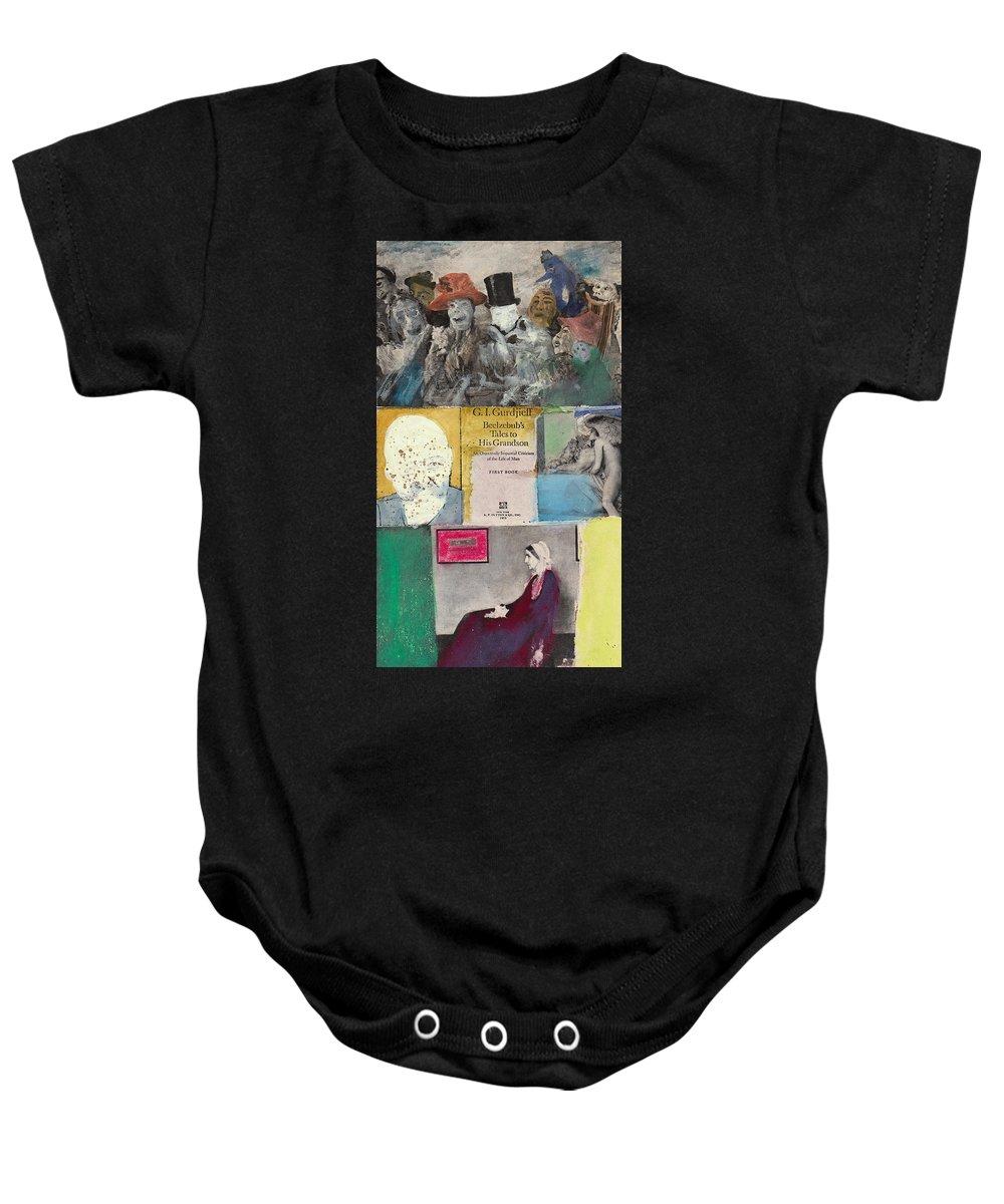 Gurdjieff Baby Onesie featuring the mixed media Beelzebub by Joe Michelli