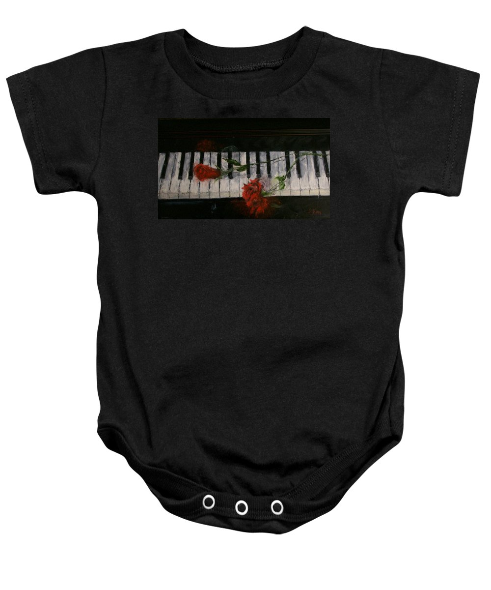 Still Life Baby Onesie featuring the painting Before The Concert by Stephen King
