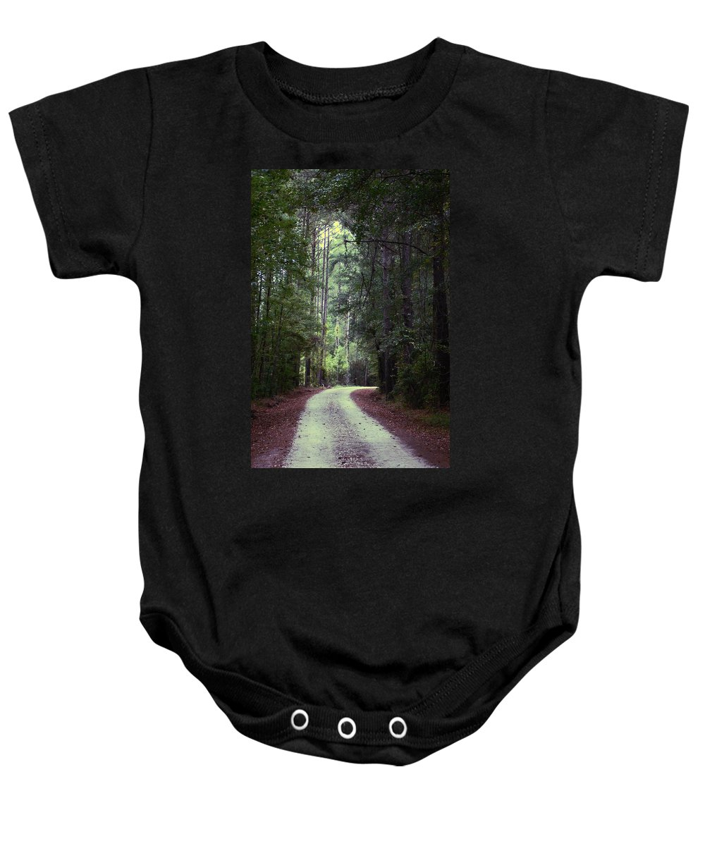 Forest Baby Onesie featuring the photograph Beidler Forest by Donna Bentley