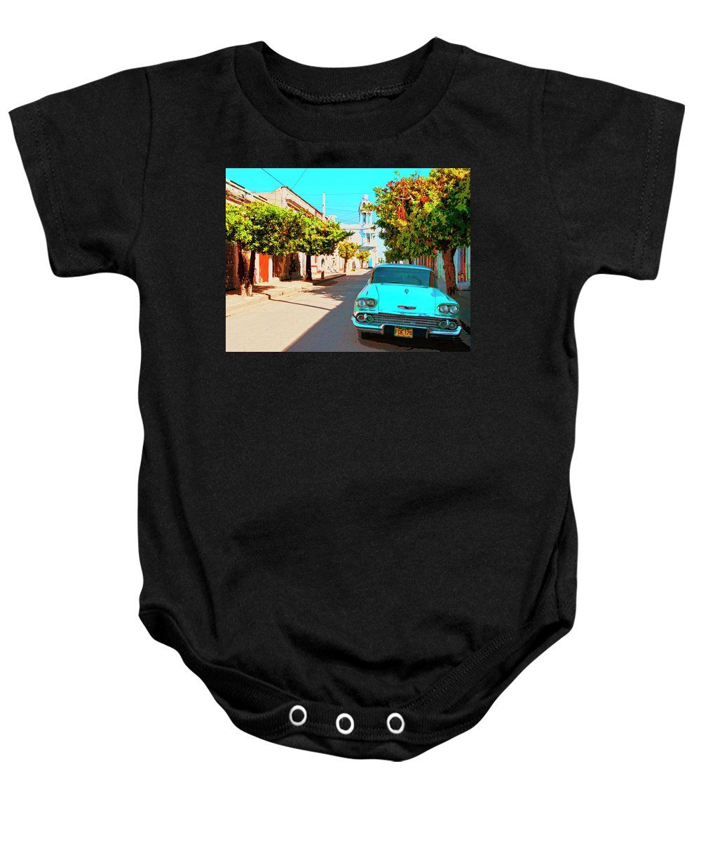Bel Air Dream Baby Onesie featuring the mixed media Bel Air Dream by Dominic Piperata