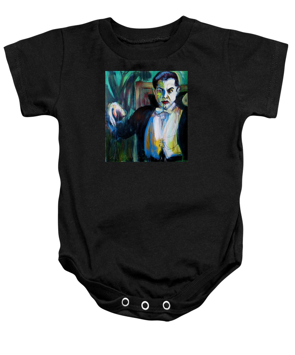 Portraits Baby Onesie featuring the painting Bela by Les Leffingwell