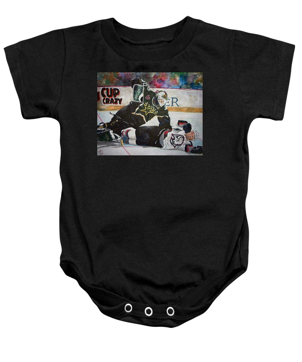 Belfour Baby Onesie featuring the painting Belfour by Travis Day
