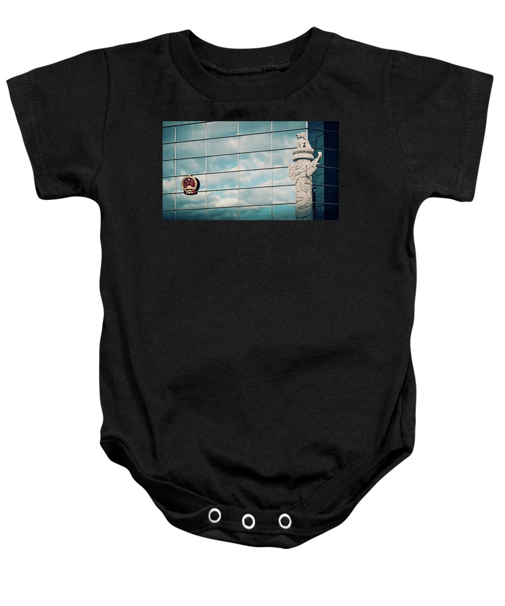 Berlin Baby Onesie featuring the photograph Berlin - Chinese Embassy by Alexander Voss