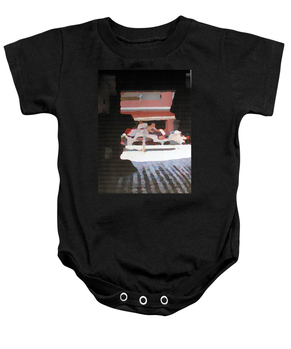 Bermuda Baby Onesie featuring the photograph Bermuda Carriage Impressions by Ian MacDonald