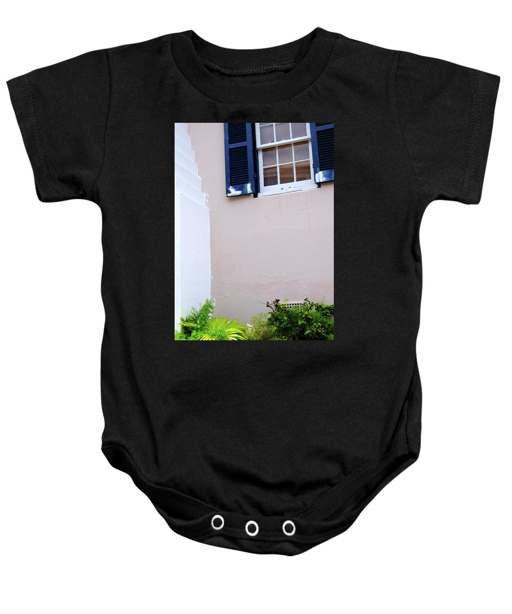 Bermuda Baby Onesie featuring the photograph Bermuda House, St. George. by Chris Rossi