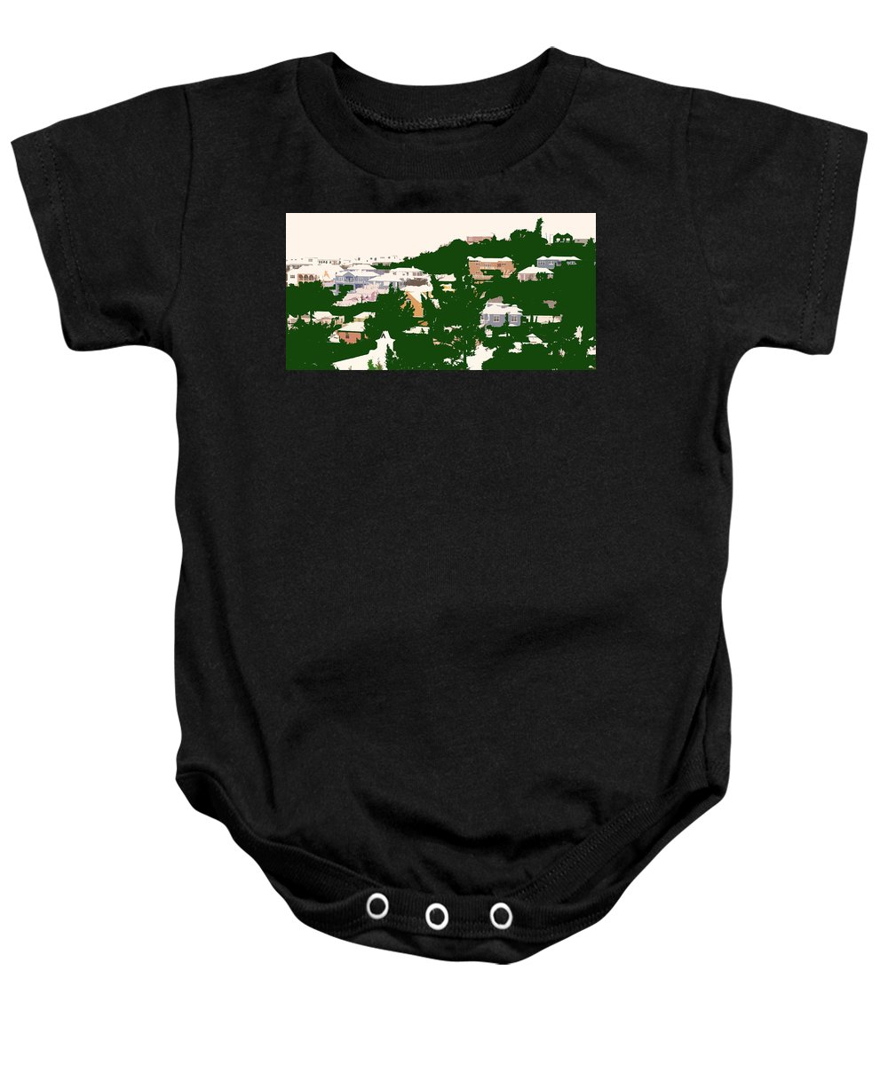 Bermuda Baby Onesie featuring the photograph Bermuda Neighborhood by Ian MacDonald