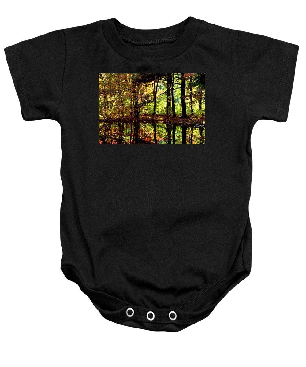Bernharts Dam Baby Onesie featuring the photograph Bernharts Dam Fall 006 by Scott McAllister