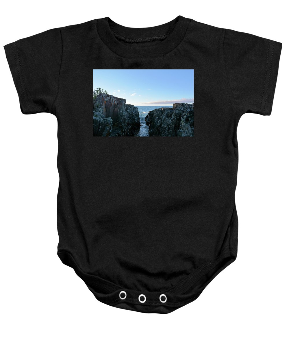 Lake Baby Onesie featuring the photograph Between The Crack by Bonfire Photography