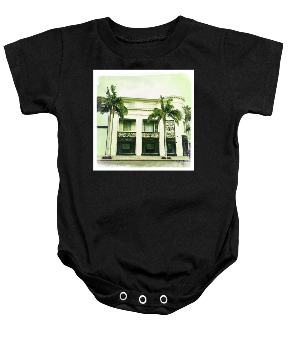 Beverly Hills Baby Onesie featuring the photograph Beverly Hills Rodeo Drive 2 by Nina Prommer