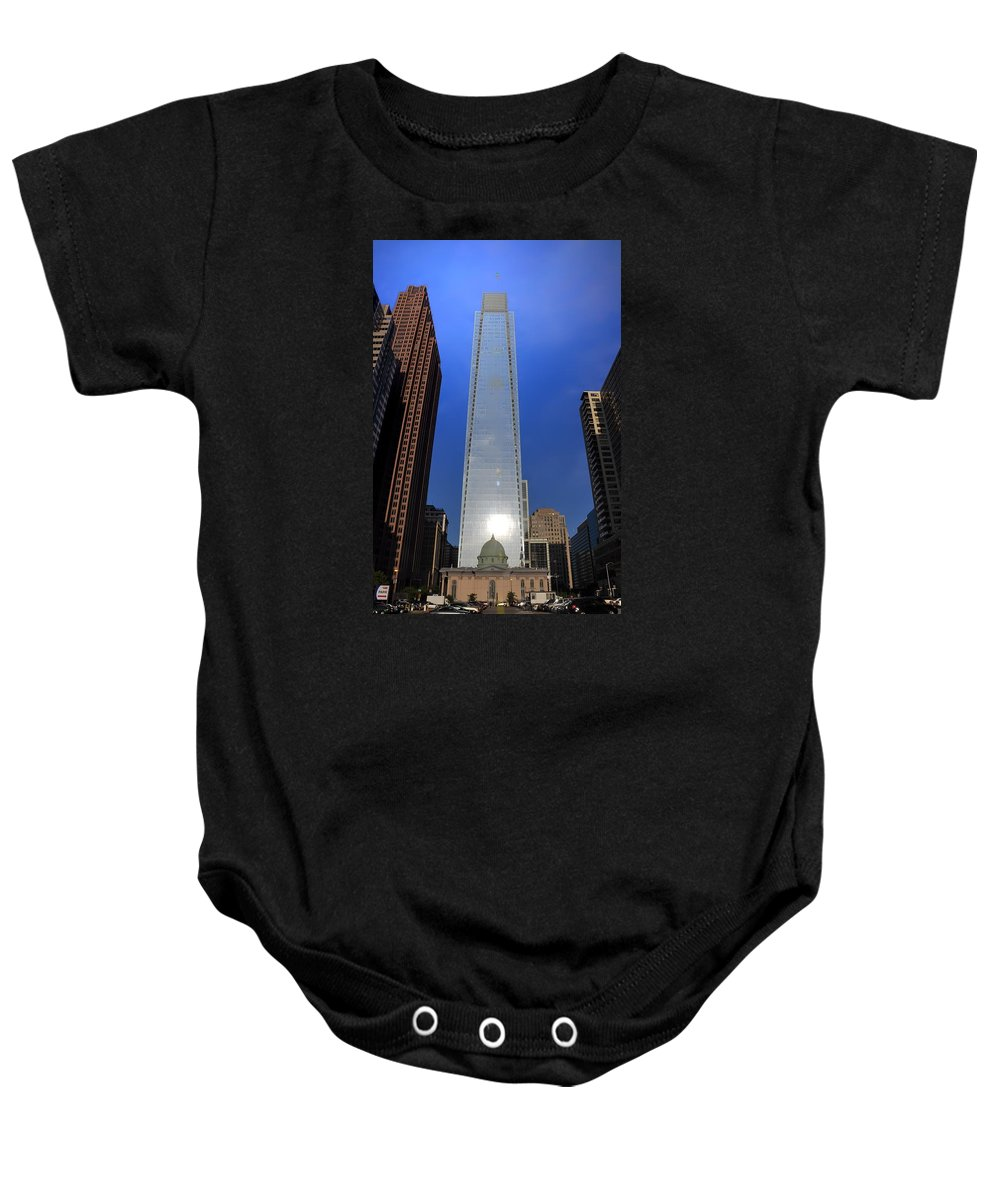 Center Baby Onesie featuring the photograph Big City Life by Bill Cannon