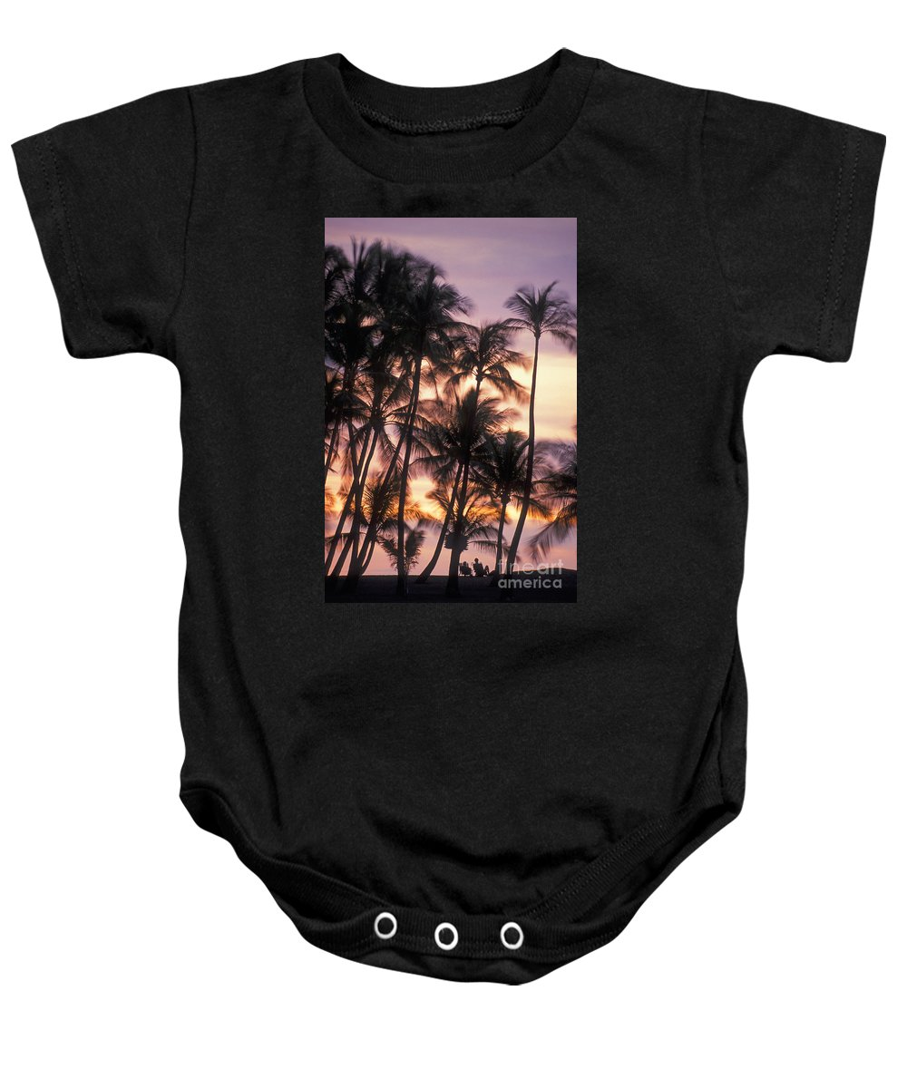 Anaehoomalu Baby Onesie featuring the photograph Big Island Palms by Greg Vaughn - Printscapes