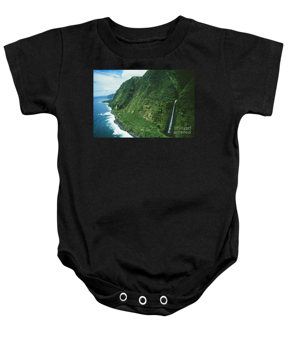 Beautiful Baby Onesie featuring the photograph Big Island Waterfall by Greg Vaughn - Printscapes