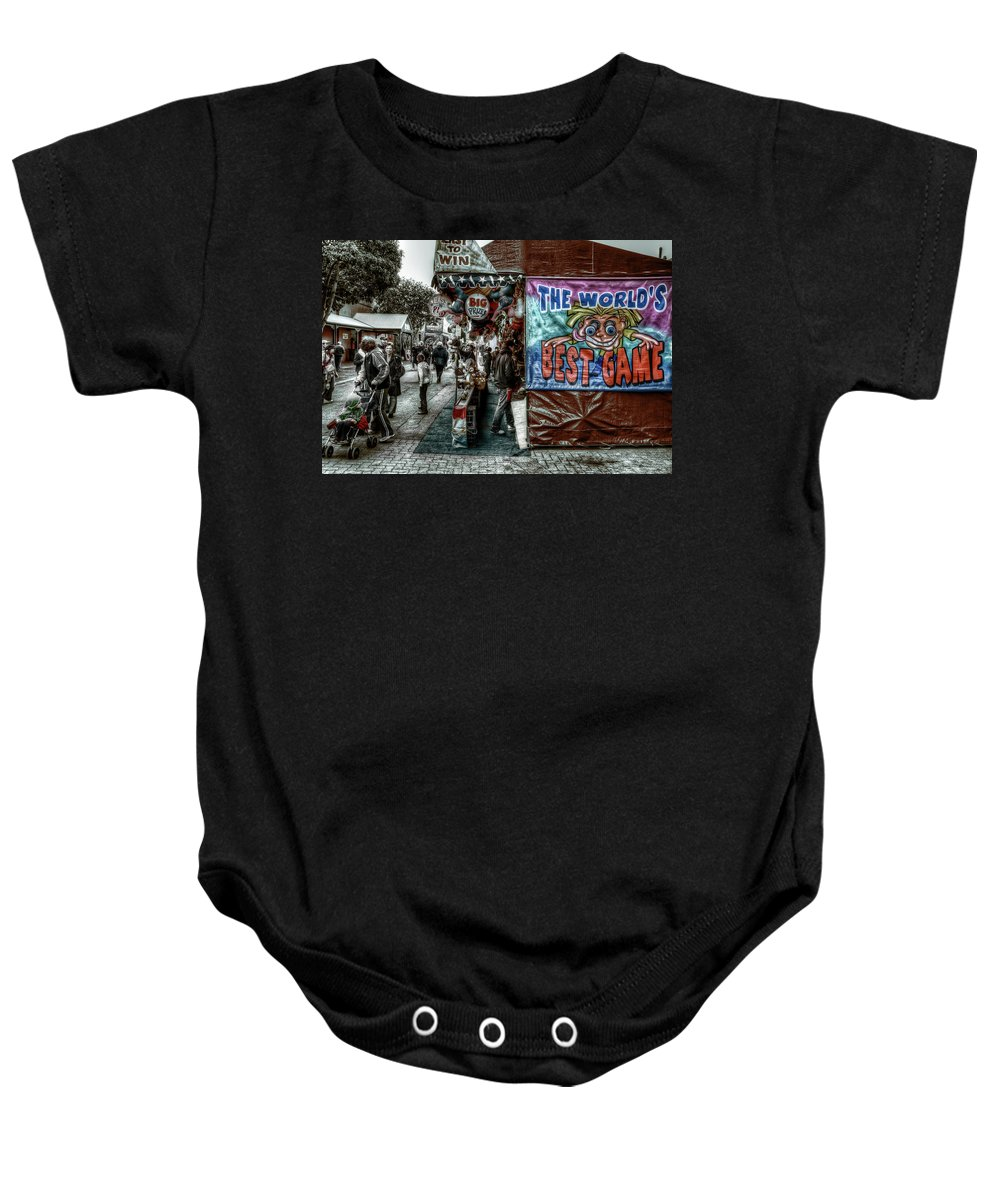 People Baby Onesie featuring the photograph Big Prizes by Wayne Sherriff