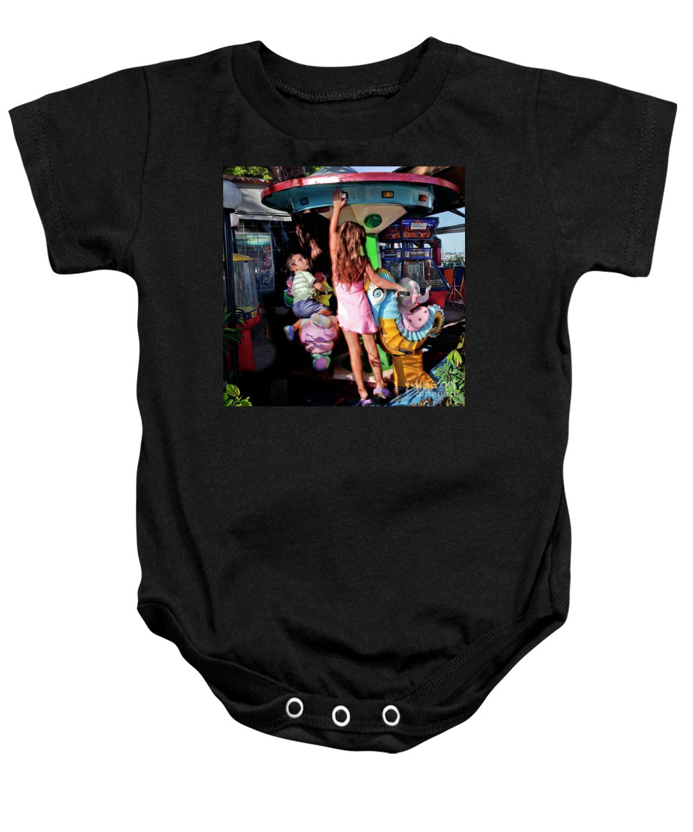 Sister Baby Onesie featuring the photograph Big Sister by Madeline Ellis
