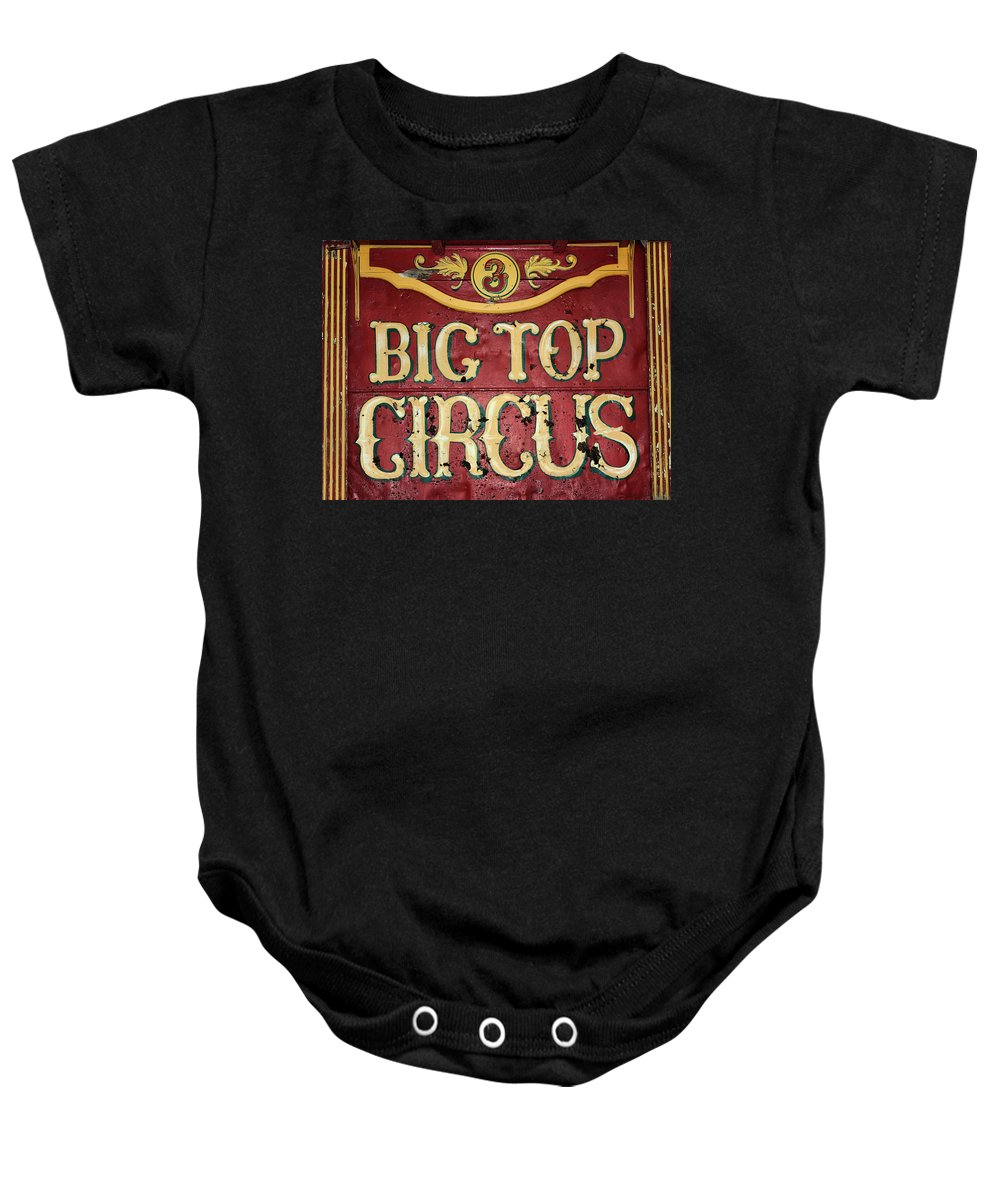 Big Top Circus Baby Onesie featuring the photograph Big Top Circus by Kristin Elmquist