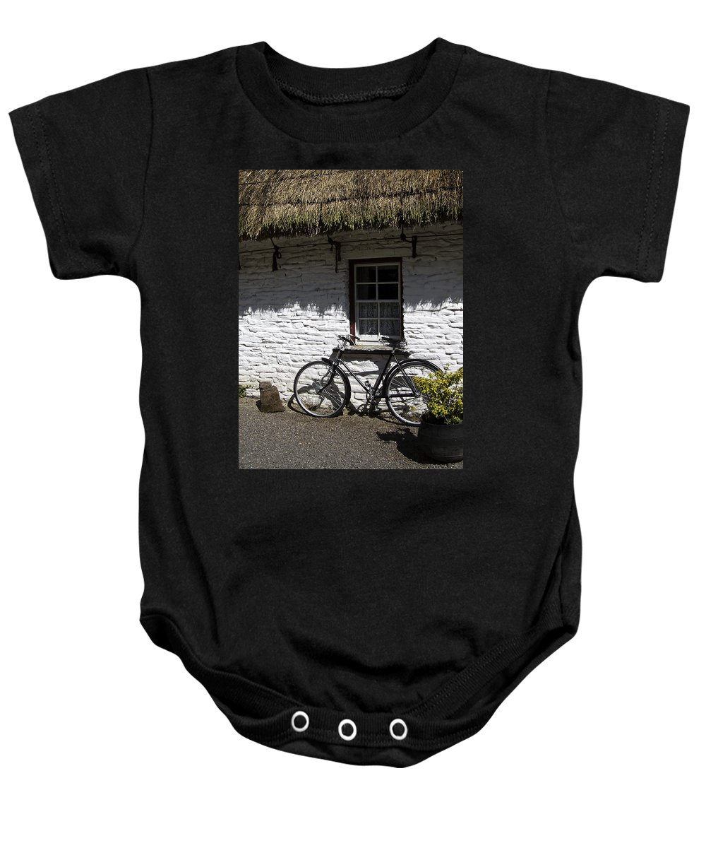 Irish Baby Onesie featuring the photograph Bike At The Window County Clare Ireland by Teresa Mucha