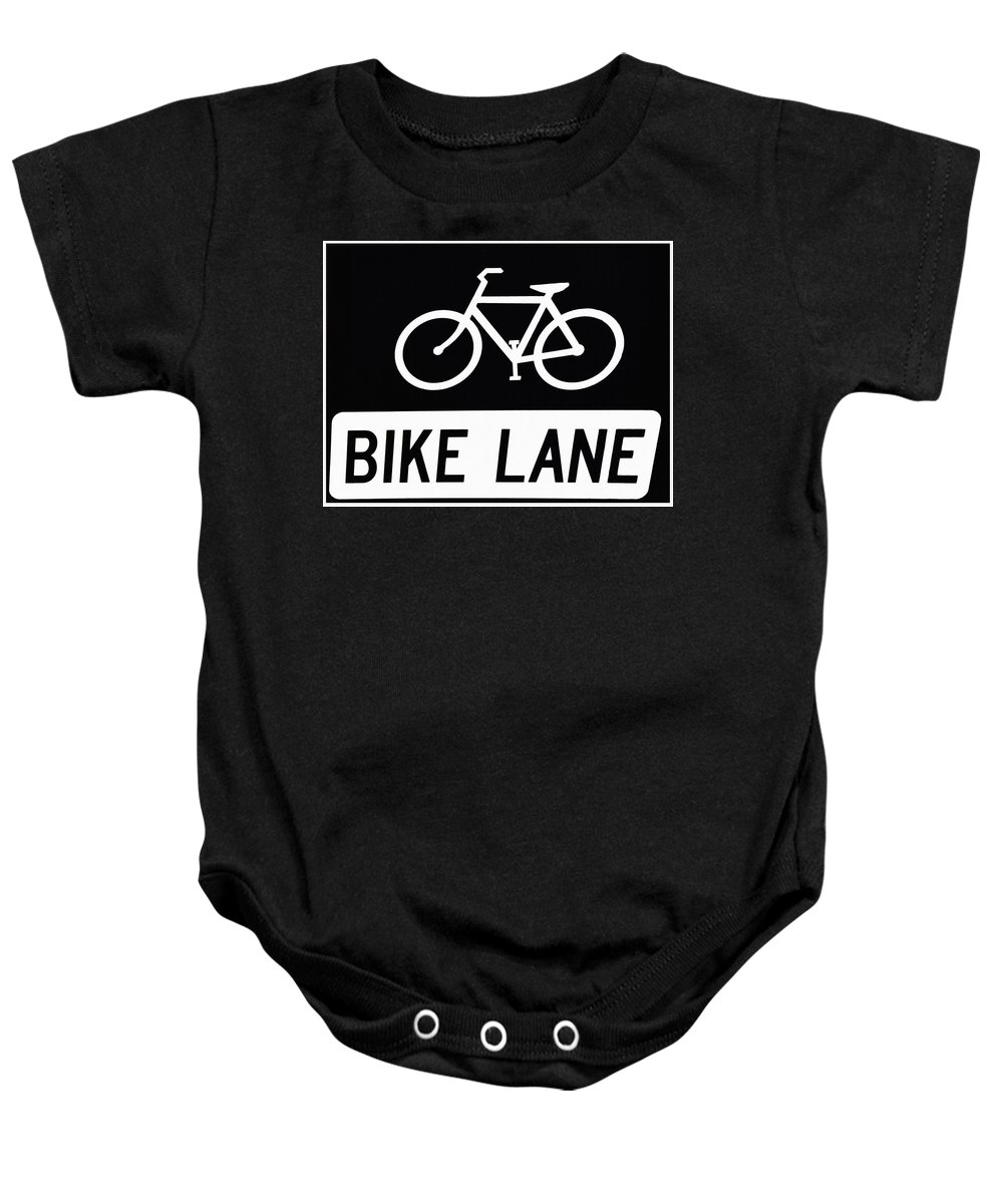 Bike Lane Baby Onesie featuring the photograph Bike Lane by Bill Cannon