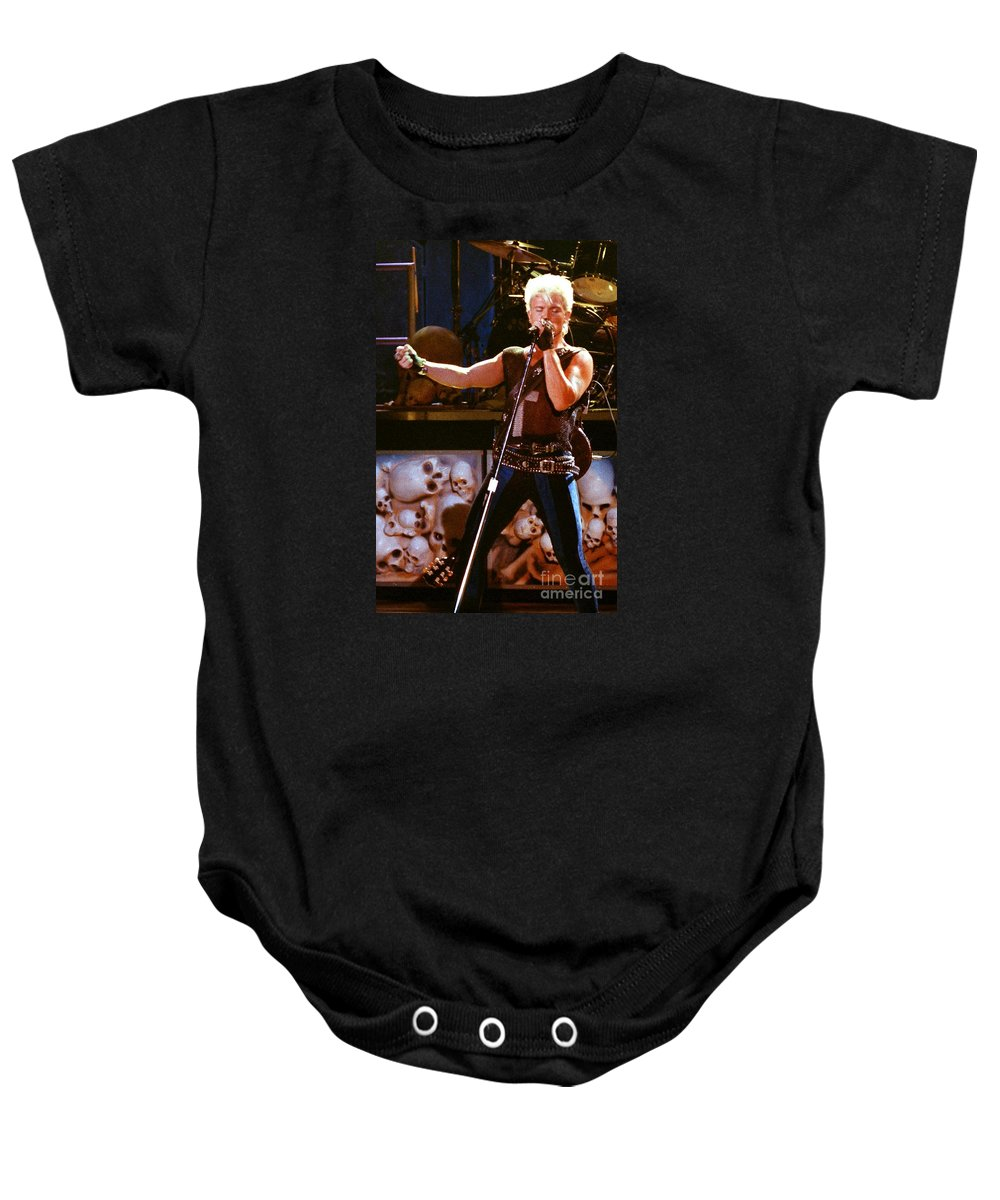 Billy Idol Baby Onesie featuring the photograph Billy Idol 90-2266 by Gary Gingrich Galleries