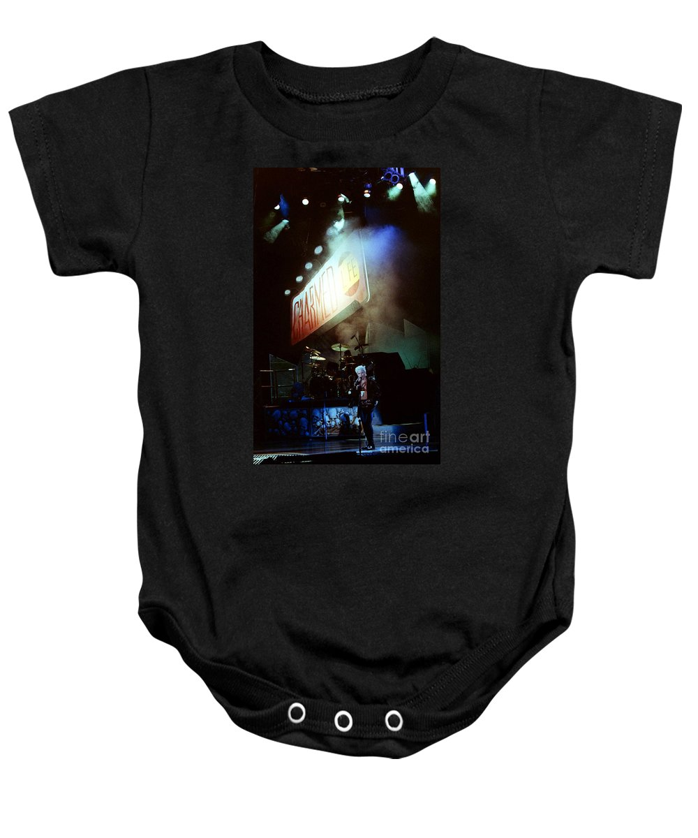 Billy Idol Baby Onesie featuring the photograph Billy Idol 90-2268 by Gary Gingrich Galleries