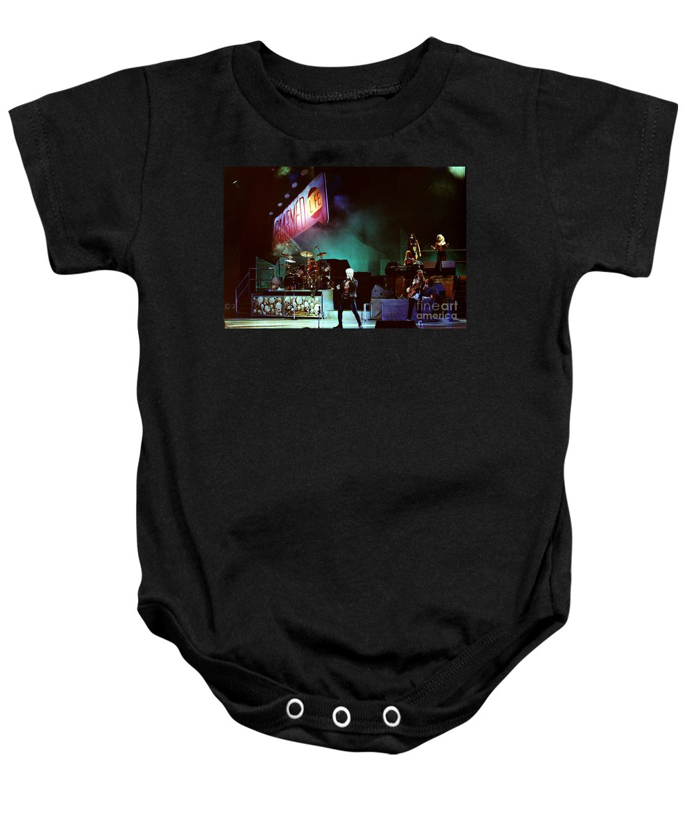 Billy Idol Baby Onesie featuring the photograph Billy Idol 90-2271 by Gary Gingrich Galleries