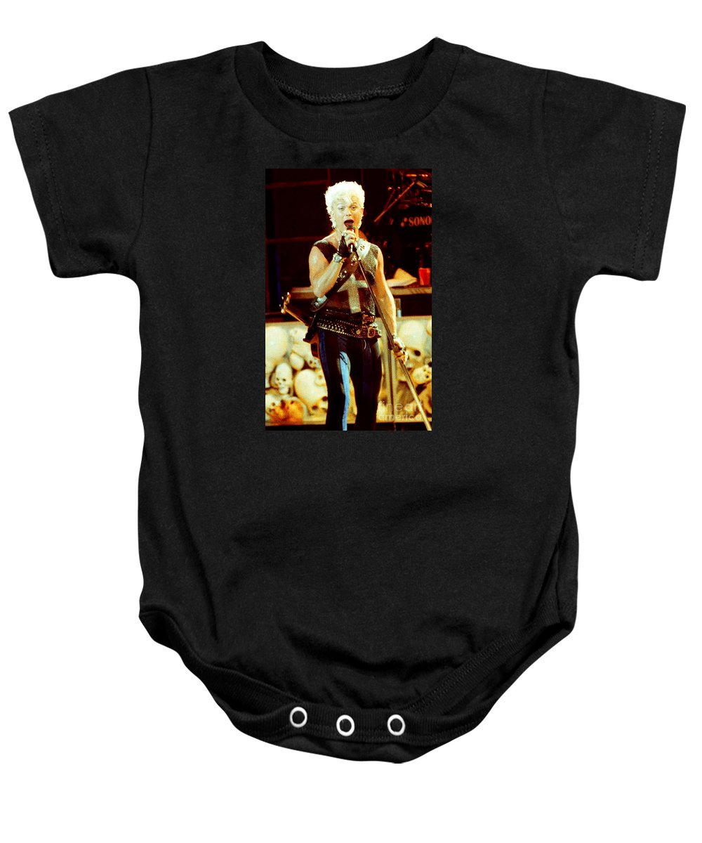 Billy Idol Baby Onesie featuring the photograph Billy Idol 90-2288 by Gary Gingrich Galleries
