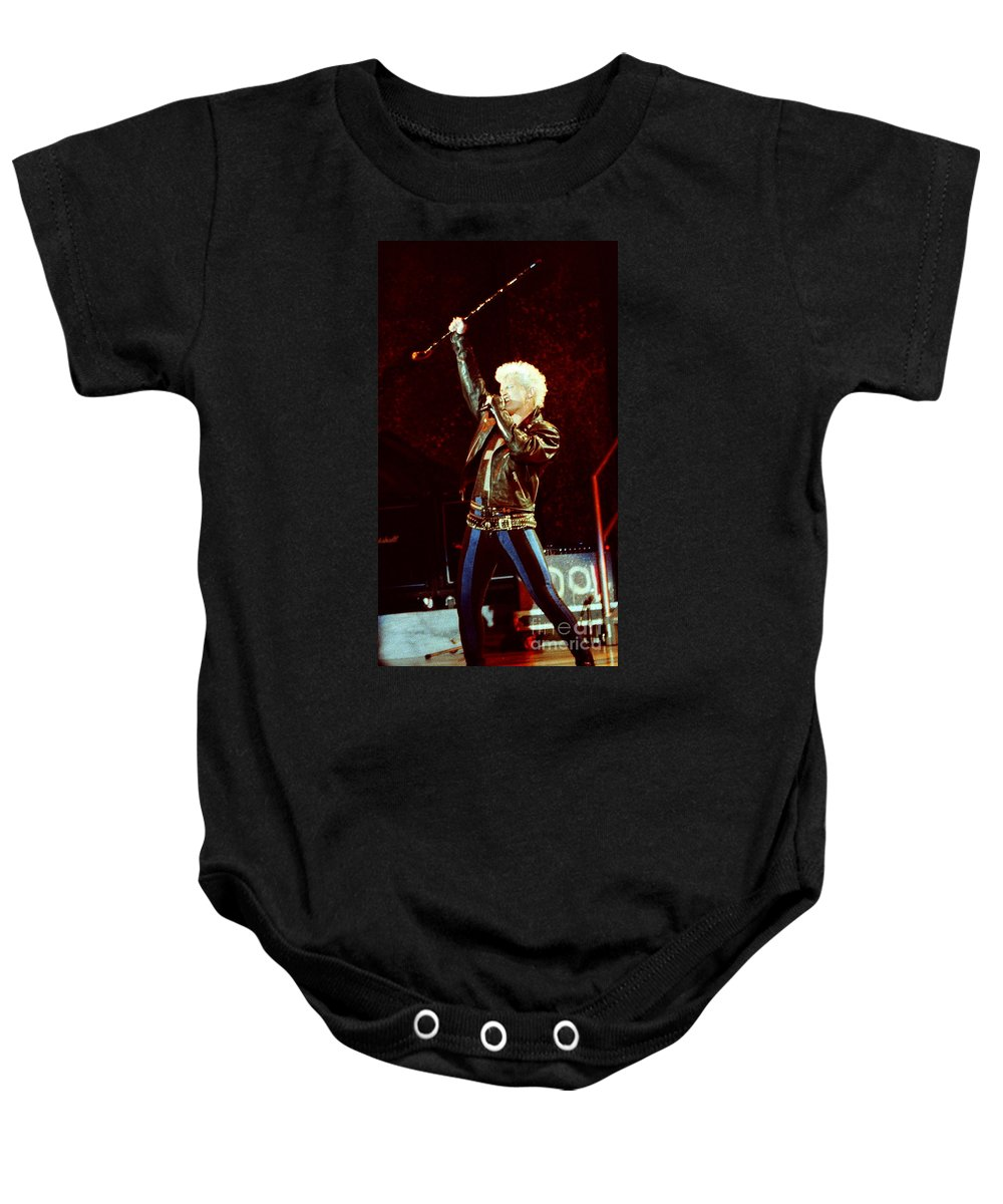 Billy Idol Baby Onesie featuring the photograph Billy Idol 90-2307 by Gary Gingrich Galleries