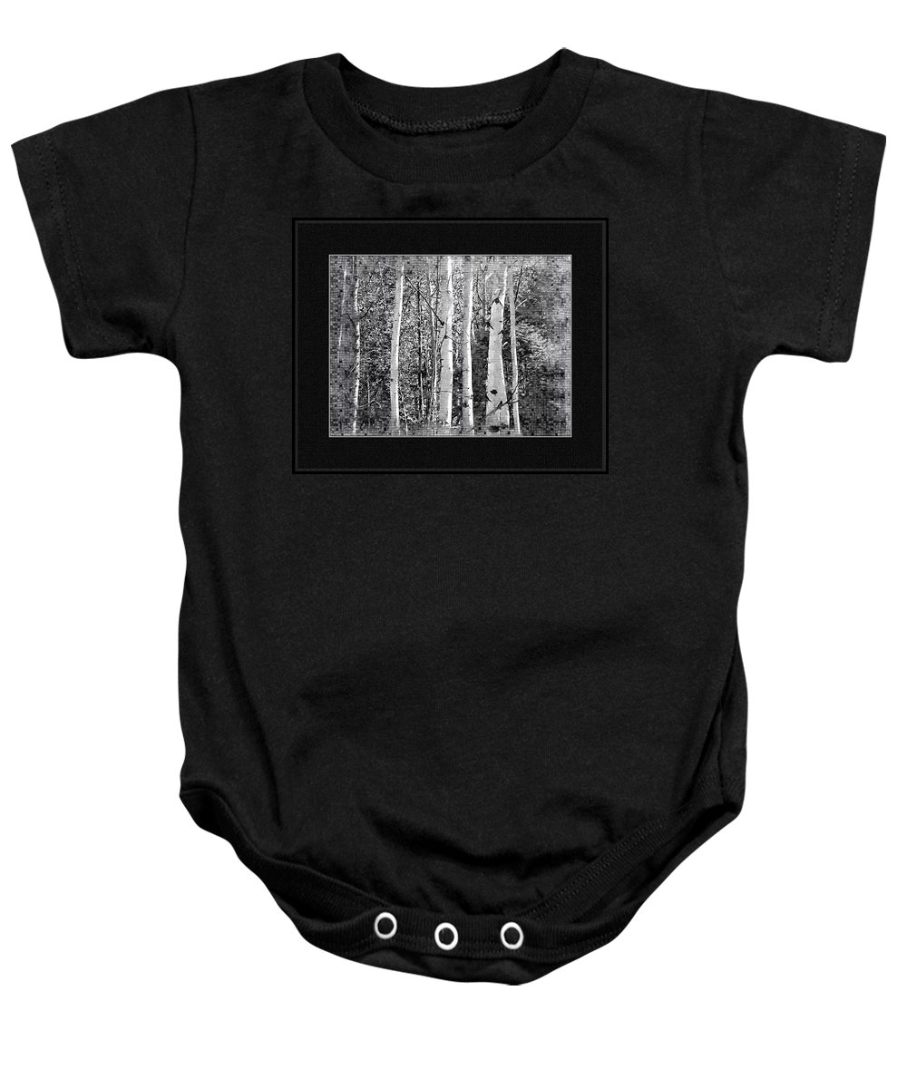 Birch Trees Baby Onesie featuring the photograph Birch Trees by Susan Kinney