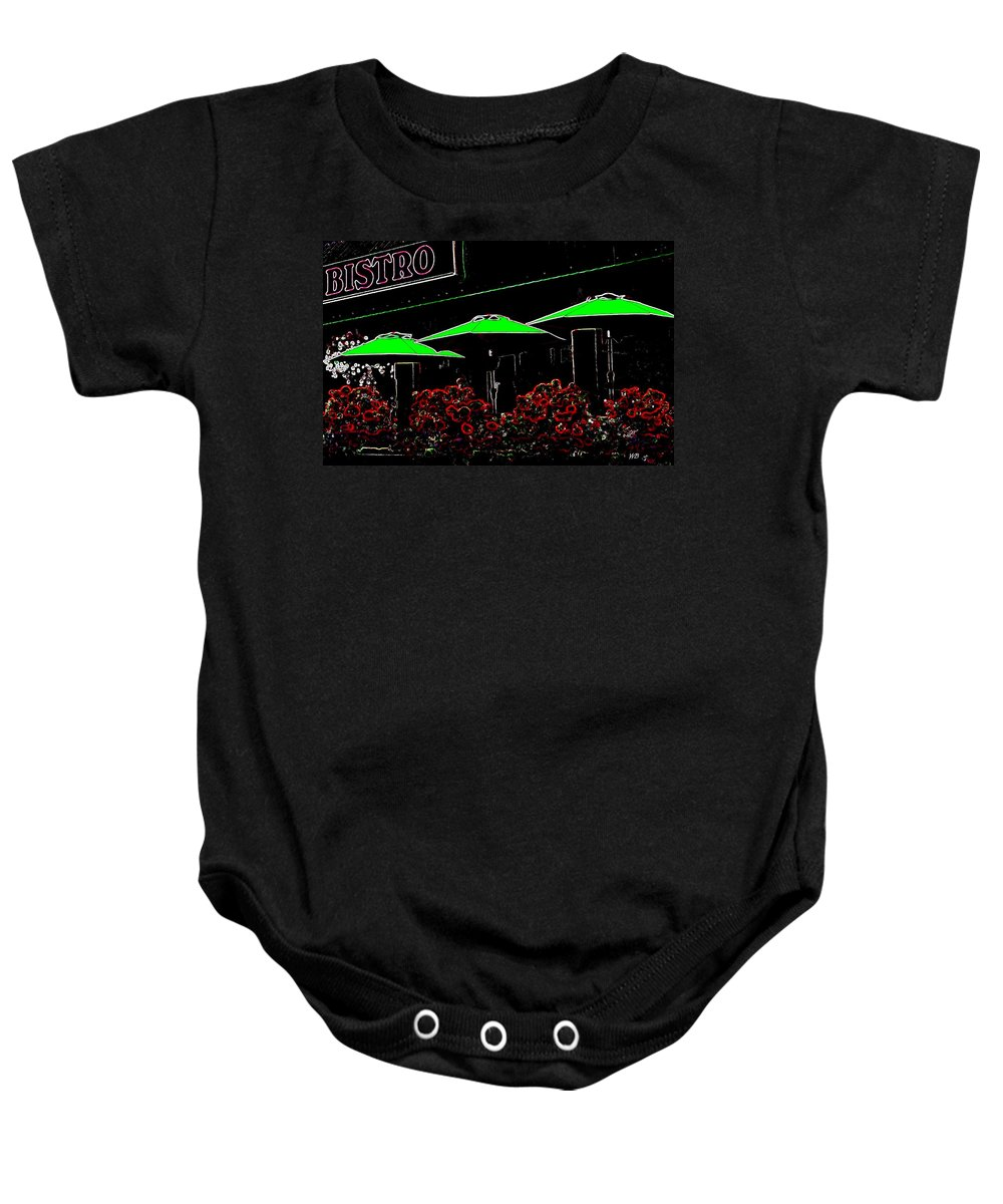 Abstract Baby Onesie featuring the digital art Bistro by Will Borden