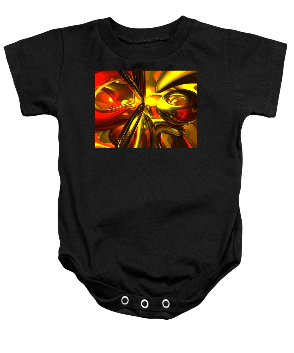 3d Baby Onesie featuring the digital art Bittersweet Abstract by Alexander Butler
