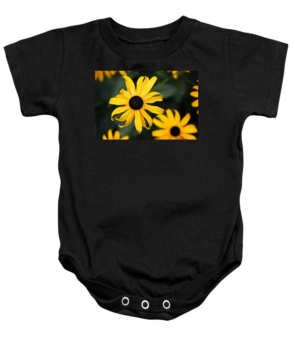Black Eyed Susan Baby Onesie featuring the photograph Black Eyed Susan by Marilyn Hunt