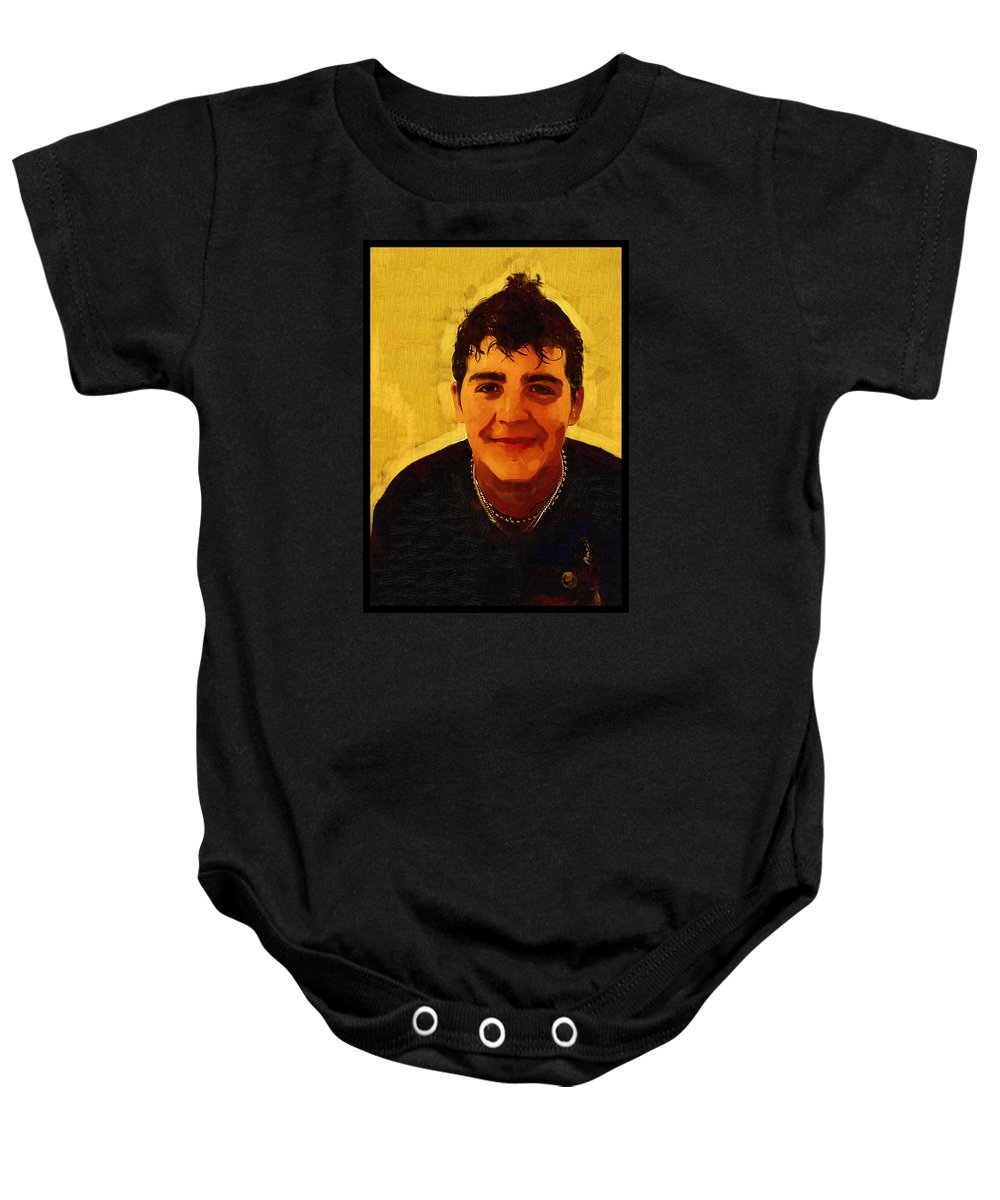 Beautiful Black Children Baby Onesie featuring the photograph Young Black Male Teen 4 by Ginger Wakem