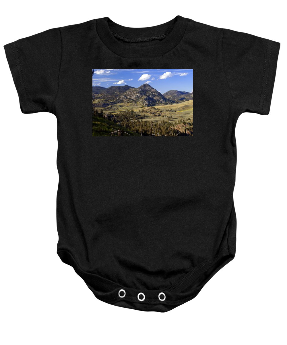Yellowstone National Park Baby Onesie featuring the photograph Blacktail Road Landscape 2 by Marty Koch