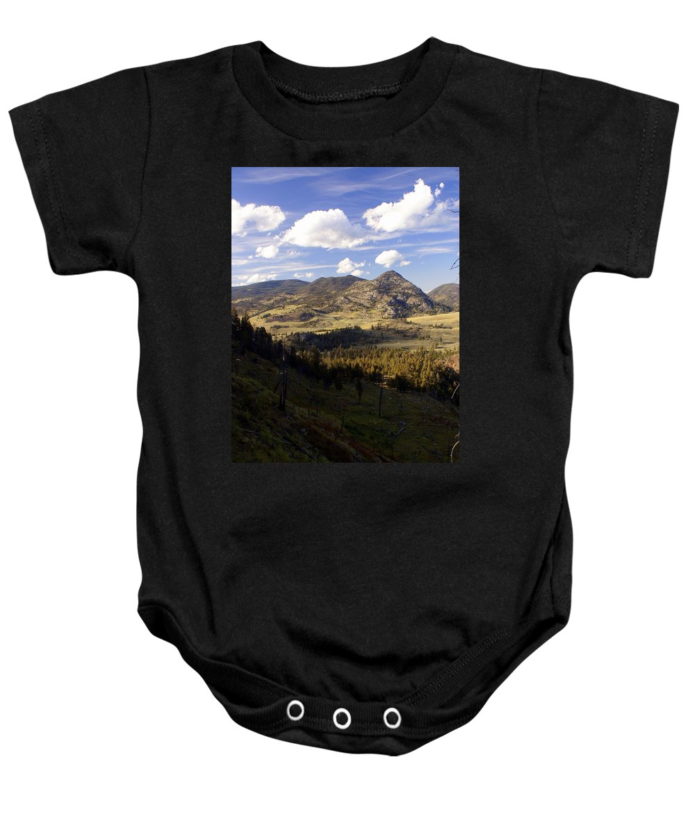 Yellowstone National Park Baby Onesie featuring the photograph Blacktail Road Landscape by Marty Koch