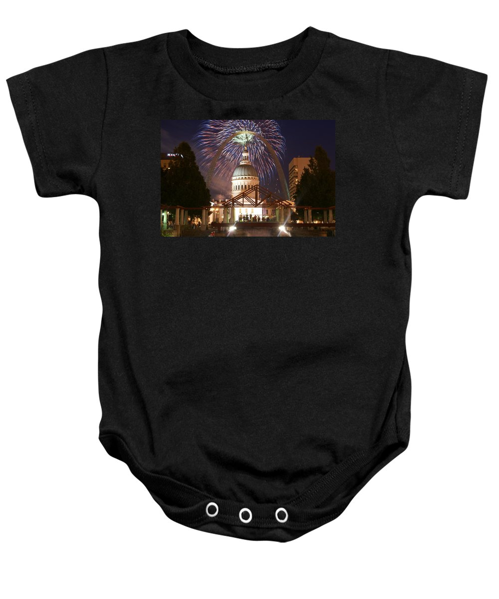 St. Louis Baby Onesie featuring the photograph Blast In Saint Louis 1 by Marty Koch