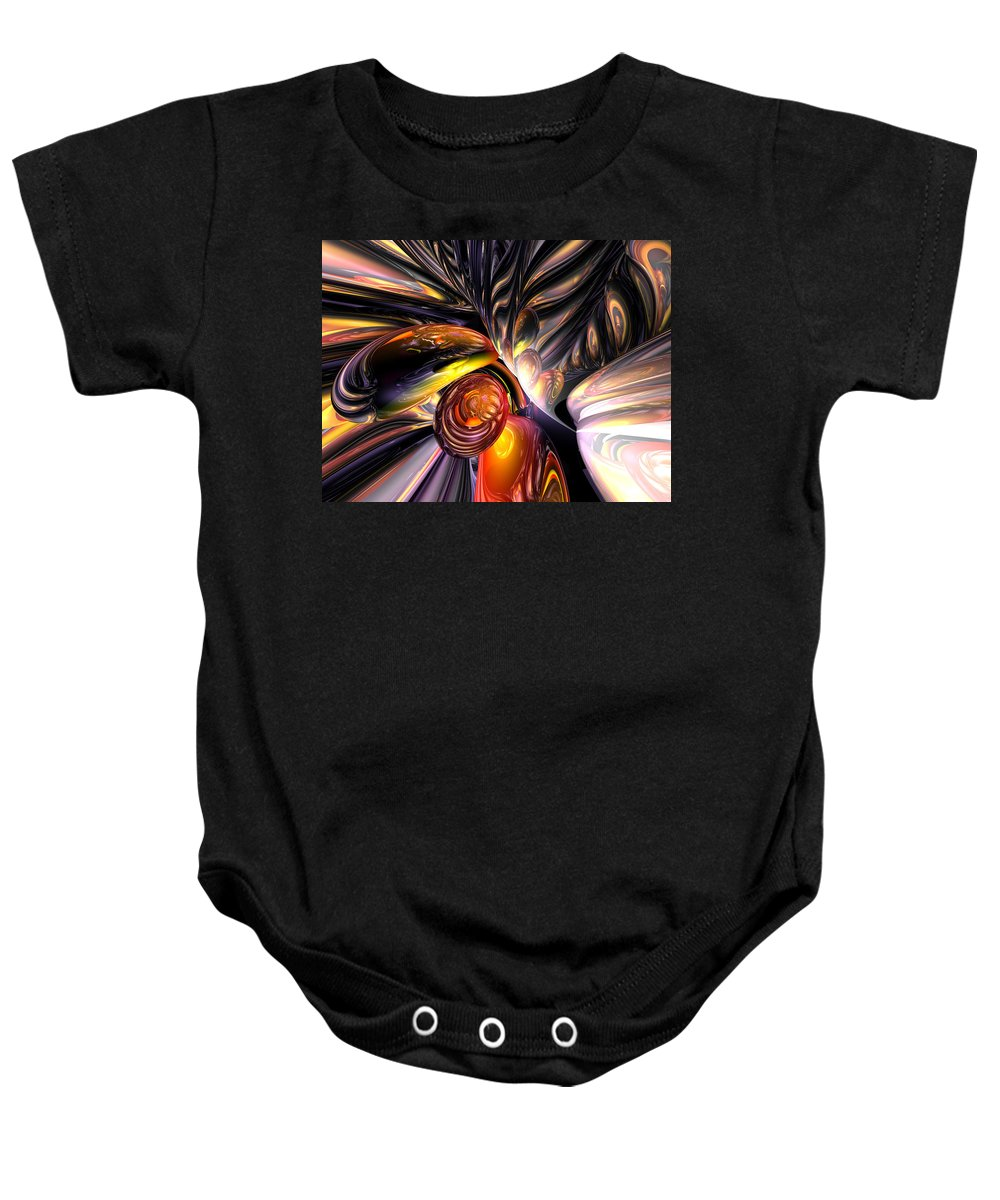 3d Baby Onesie featuring the digital art Blaze Abstract by Alexander Butler