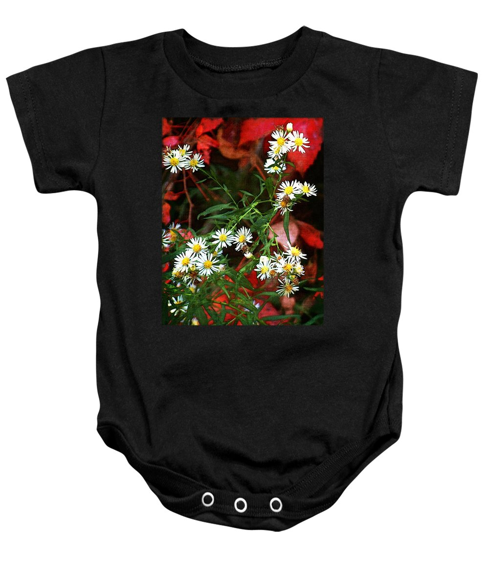 Asters Baby Onesie featuring the painting Blazing In Scarlet Battalions by RC DeWinter