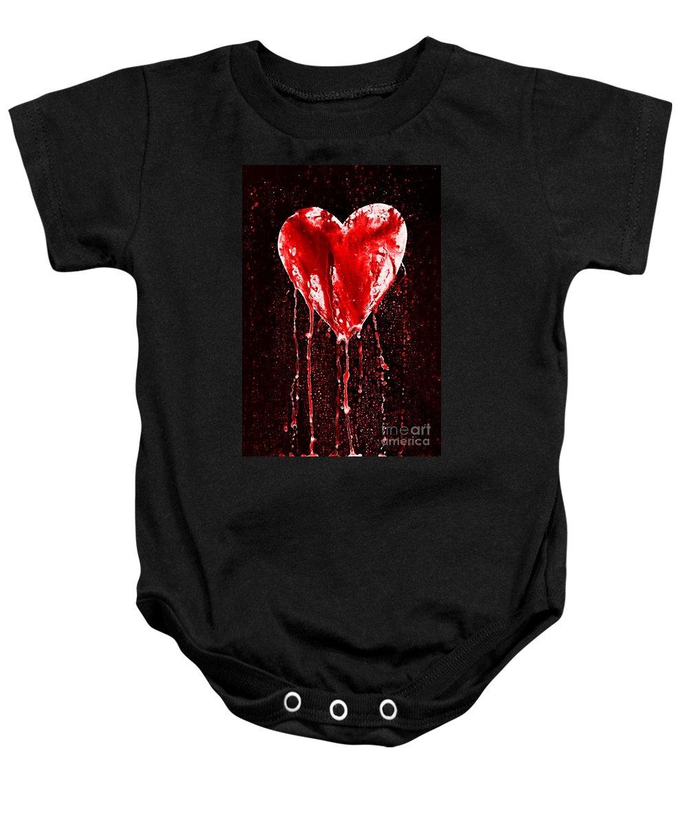 Bleeding Baby Onesie featuring the photograph Bleeding Heart by Michal Boubin